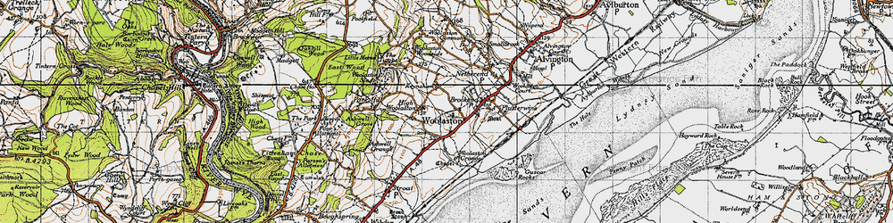 Old map of Woolaston in 1946