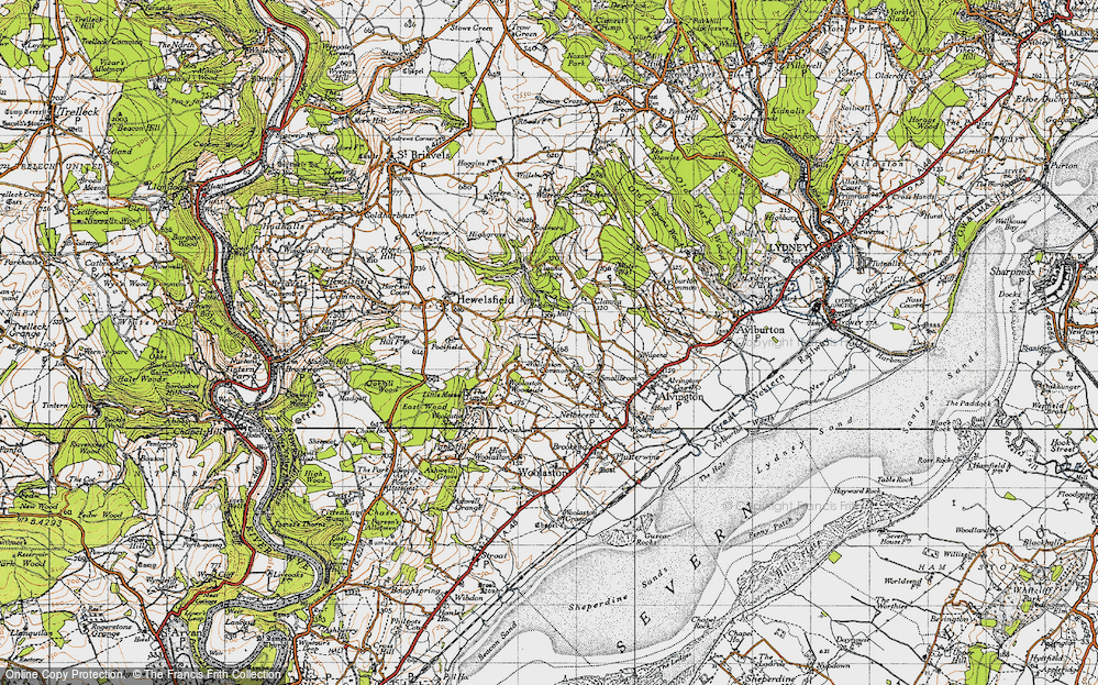 Old Map of Woolaston Common, 1946 in 1946