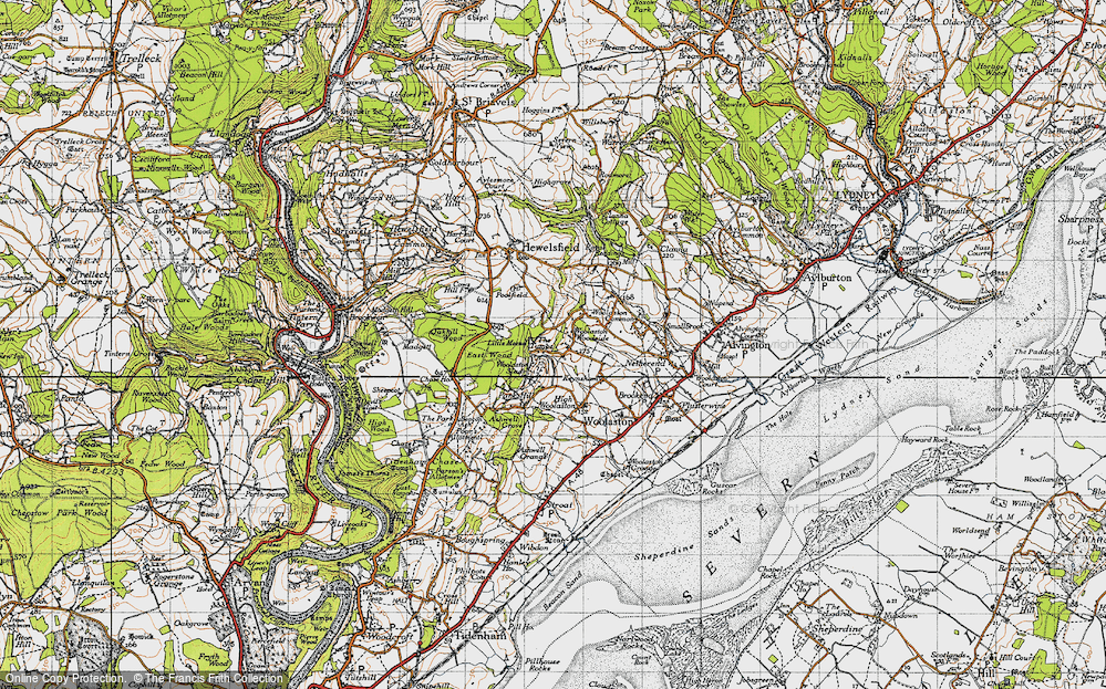 Old Map of Woolaston Slade, 1946 in 1946