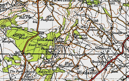 Old map of Woolaston Slade in 1946