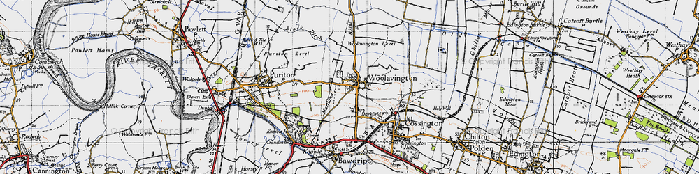 Old map of Woolavington in 1946
