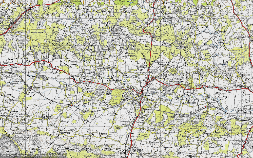 Old Map of Woolbeding, 1945 in 1945