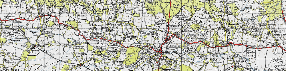 Old map of Woolbeding in 1945