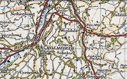 Old map of Wooldale in 1947