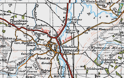 Old map of Tile Sheds in 1947