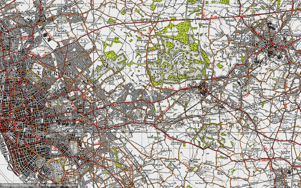 Old Map of Woolfall Heath, 1947 in 1947