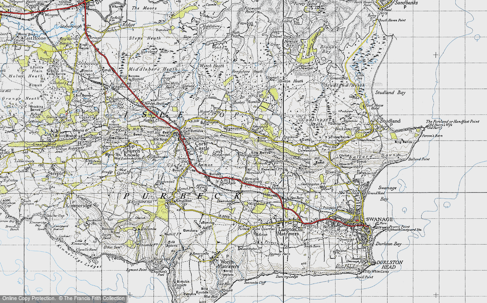 Old Map of Woolgarston, 1940 in 1940