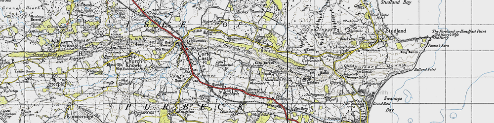 Old map of Woolgarston in 1940