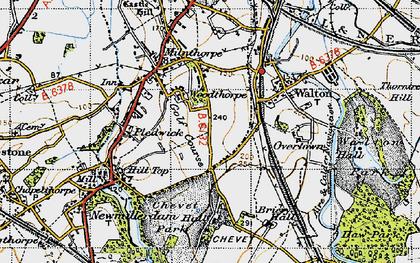 Old map of Woolgreaves in 1947