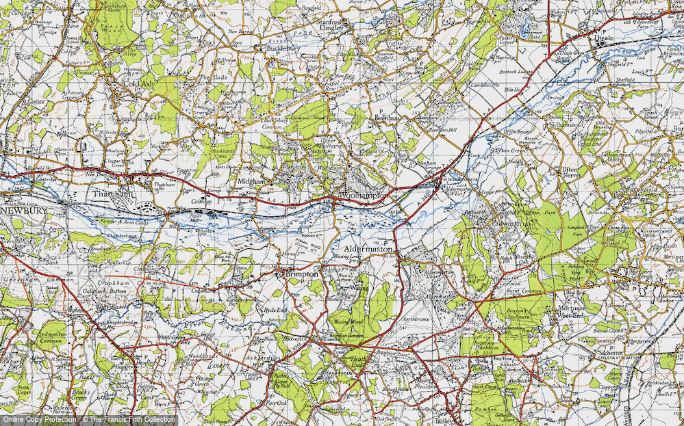 Old Map of Woolhampton, 1945 in 1945