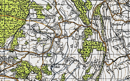 Old map of Woolhope in 1947
