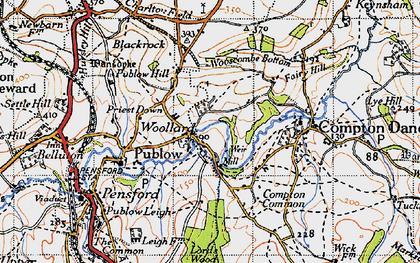 Old map of Woollard in 1946