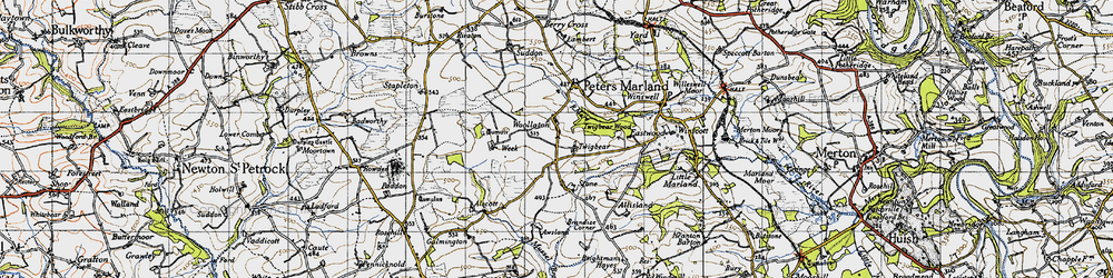 Old map of Woollaton in 1946