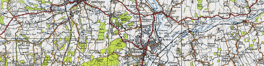Old map of Woollensbrook in 1946