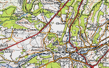 Old map of Woolmer Hill in 1940