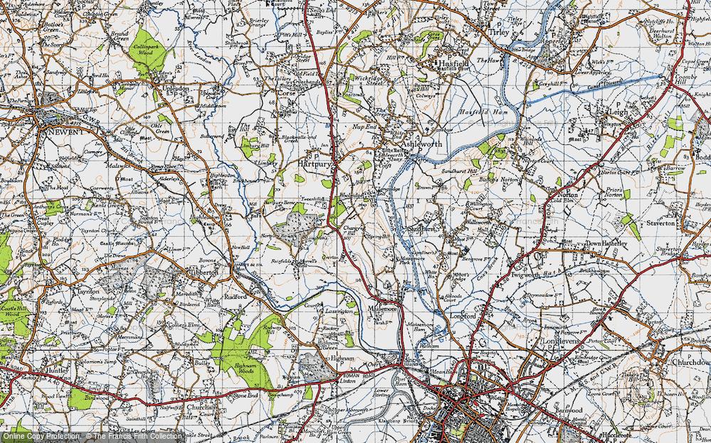 Old Map of Woolridge, 1947 in 1947