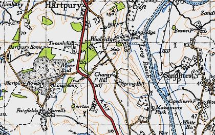 Old map of Woolridge in 1947