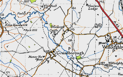 Old map of Woolscott in 1946
