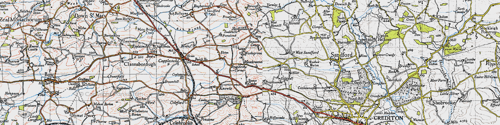 Old map of Woolsgrove in 1946