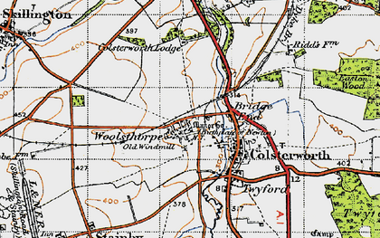 Old map of Woolsthorpe-by-Colsterworth in 1946