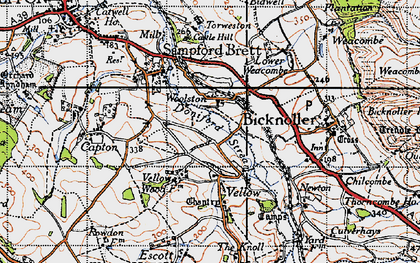 Old map of Woolston in 1946