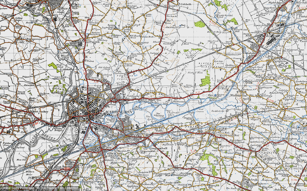 Old Map of Woolston, 1947 in 1947