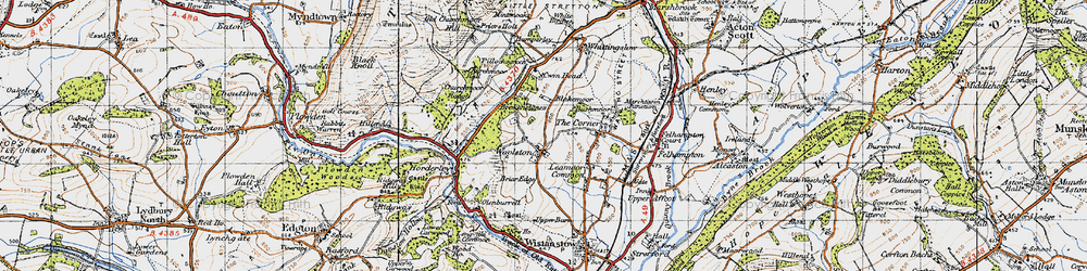Old map of Woolston in 1947