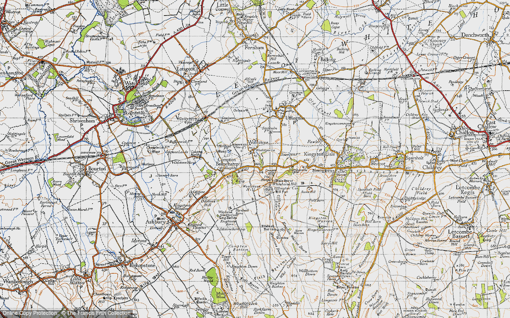 Old Map of Woolstone, 1947 in 1947