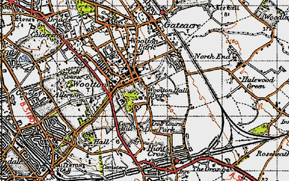 Old map of Woolton in 1947