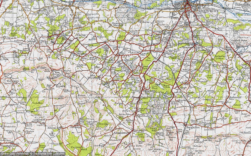 Old Map of Woolton Hill, 1945 in 1945