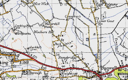 Old map of Woolvers Hill in 1946