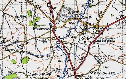 Old map of Woolverton in 1946