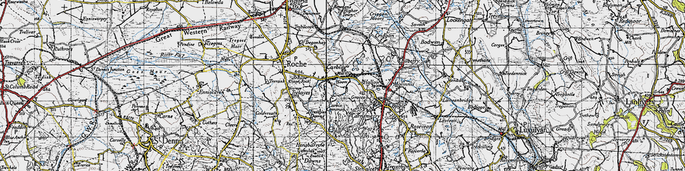 Old map of Woon in 1946