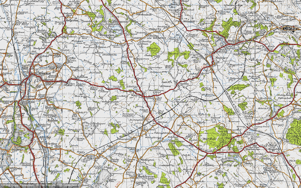 Old Map of Woore, 1946 in 1946