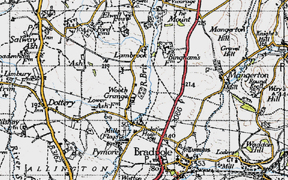 Old map of Wooth in 1945