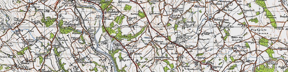 Old map of Wooton in 1946
