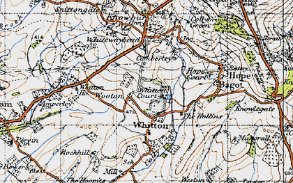 Old map of Whitton Ho in 1947