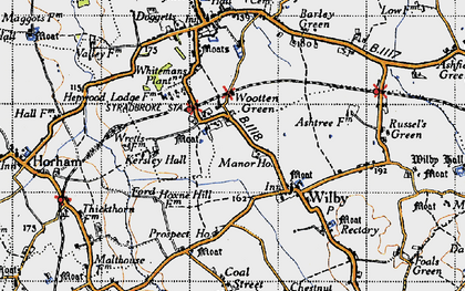 Old map of Wootten Green in 1946