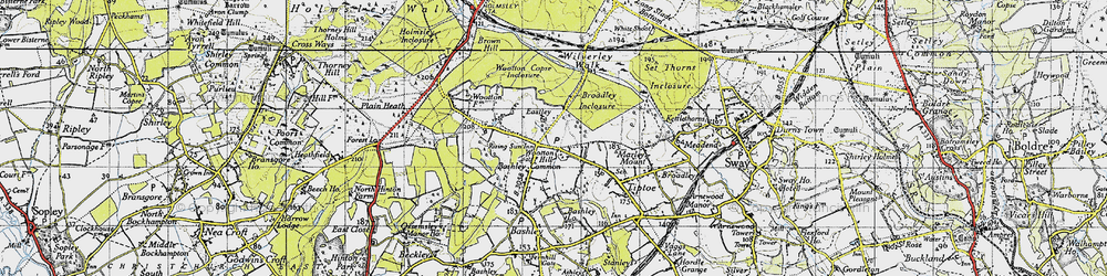 Old map of Wootton in 1940