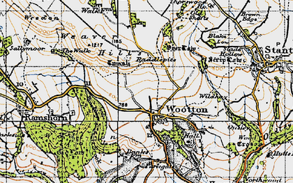 Old map of Wildhay in 1946
