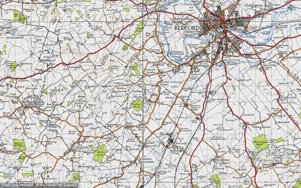Old Map of Wootton, 1946 in 1946