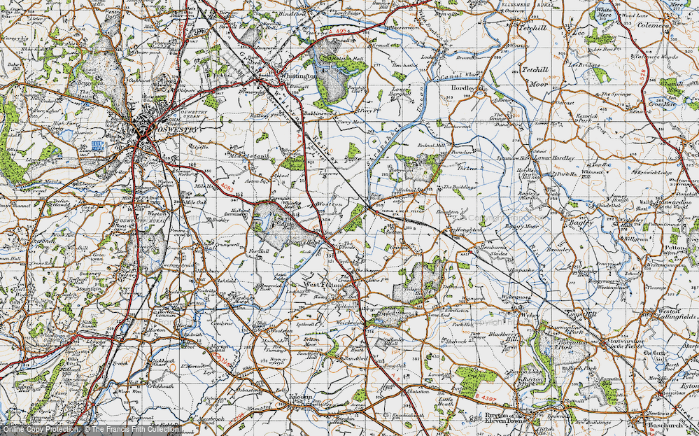 Old Map of Wootton, 1947 in 1947