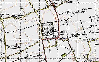 Old map of Ashdale Ho in 1947