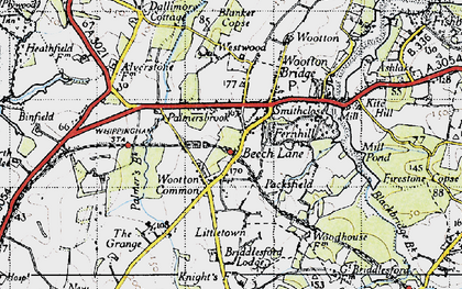 Old map of Westwood in 1945