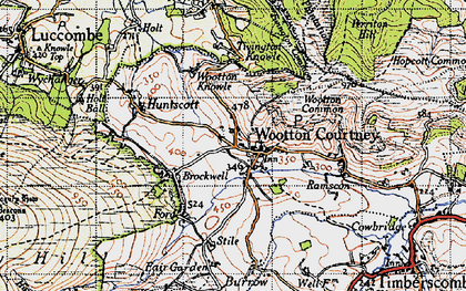 Old map of Wootton Common in 1946