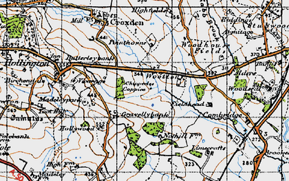 Old map of Woottons in 1946