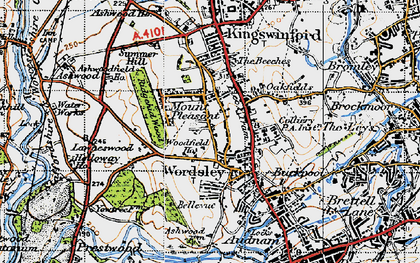 Old map of Wordsley in 1946