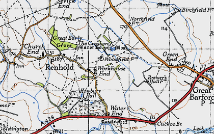 Old map of Workhouse End in 1946