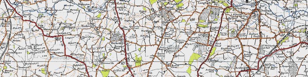 Old map of Workhouse Hill in 1945