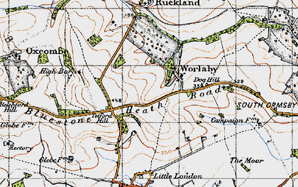 Old map of Worlaby in 1946